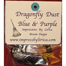 Dragonfly Dust Blue & Purple Necklace