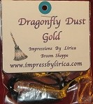 Dragonfly Dust Gold Necklace