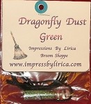 Dragonfly Dust Green Necklace