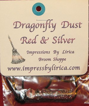 Dragonfly Dust Red & Silver Necklace