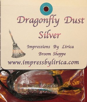 Dragonfly Dust Silver Necklace