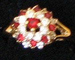 Flower Ring #26 Size 8