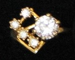 Cubic Zircon Ring #4