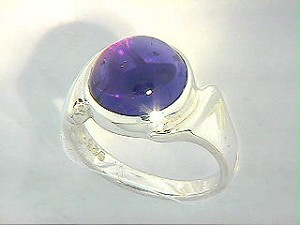 Hidden Pentacle Ring with Amethyst